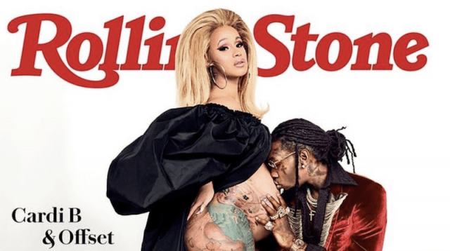 Cardi B and partner Offset took over Rollingstone