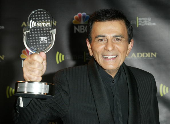 Kasey Casem with his award backckstage at The 2003 Radio Music Awards