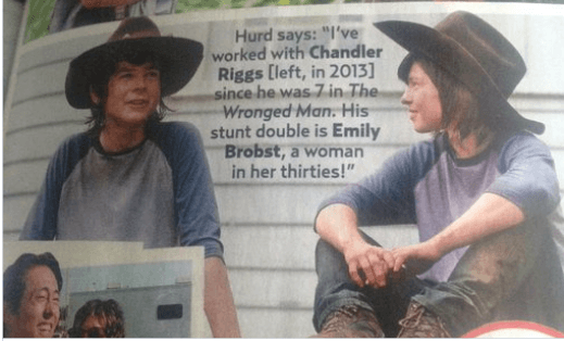 Chandler Riggs and Emily Brobst
