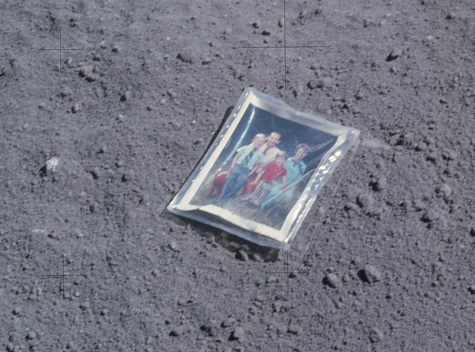Charles Duke family photo moon