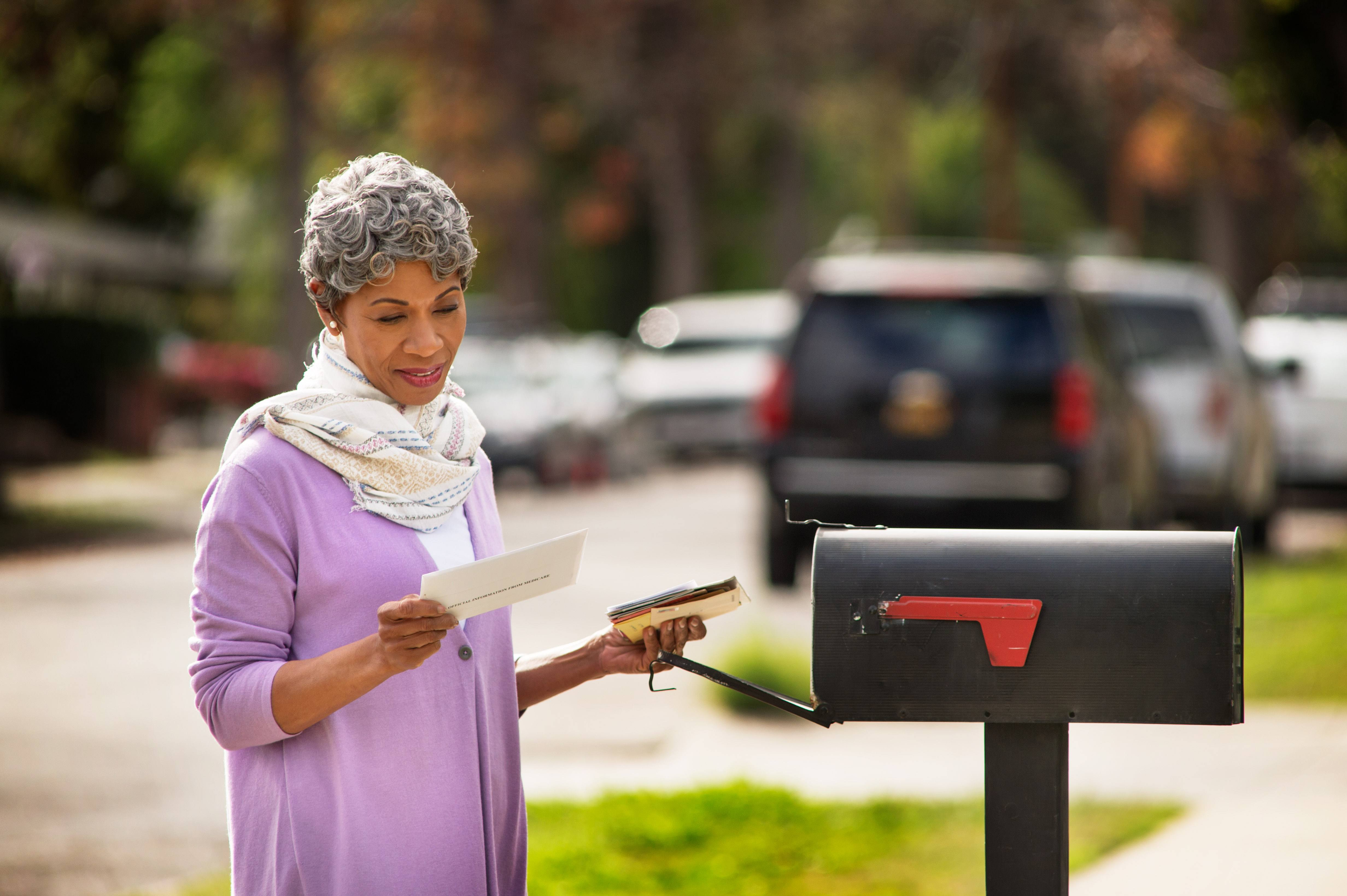 Checking mail for medicare card