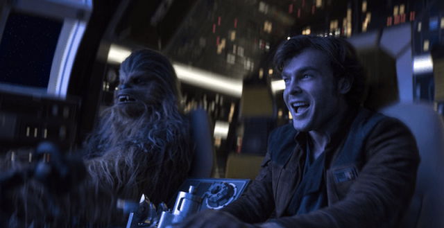 Han and Chewie in the ship.