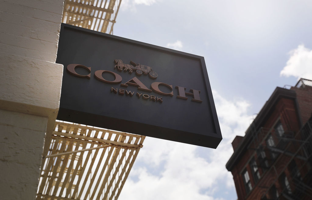 A Coach store stands in the SoHo neighborhood of Manhattan