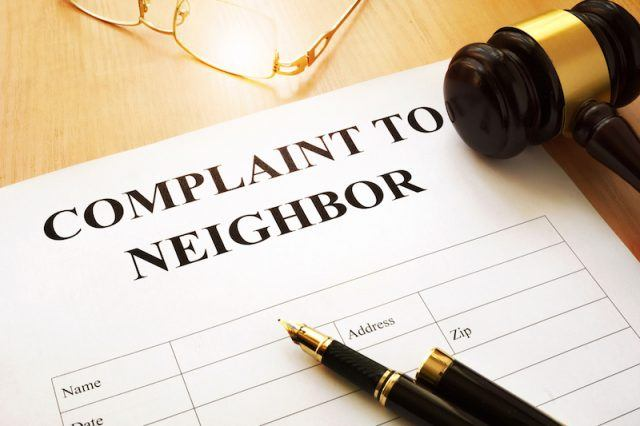 Complaint to Neighbor document
