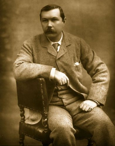 Scottish novelist Sir Arthur Conan Doyle