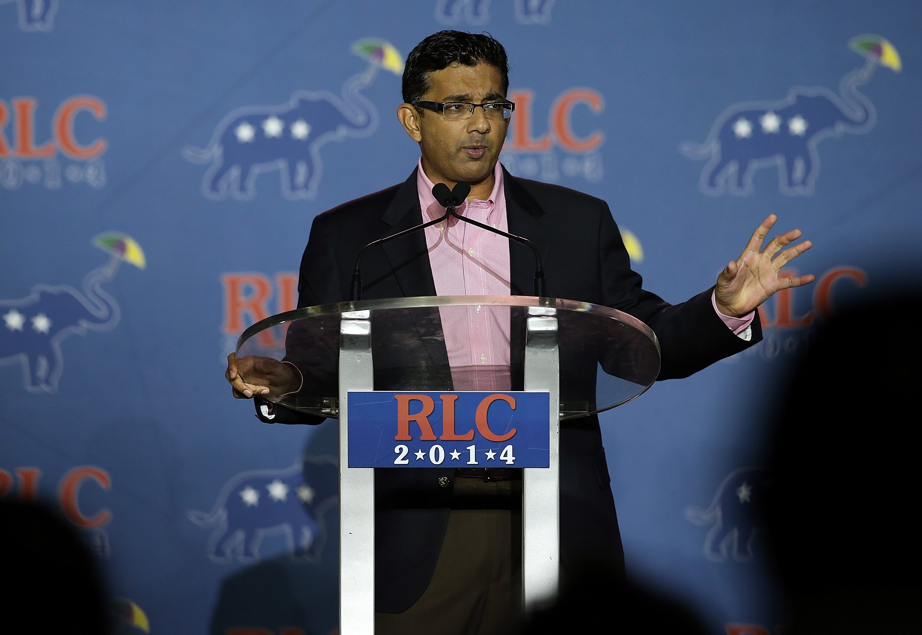 Conservative filmmaker and author Dinesh D'Souza speaks