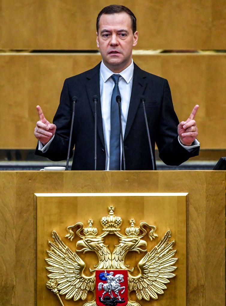 Russia's Prime Minister Dmitry Medvedev