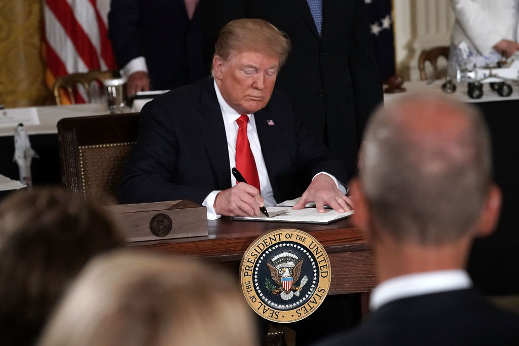 President Trump signed an executive order to establish the Space Force