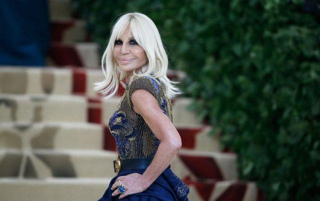 Donatella Versace attends Heavenly Bodies