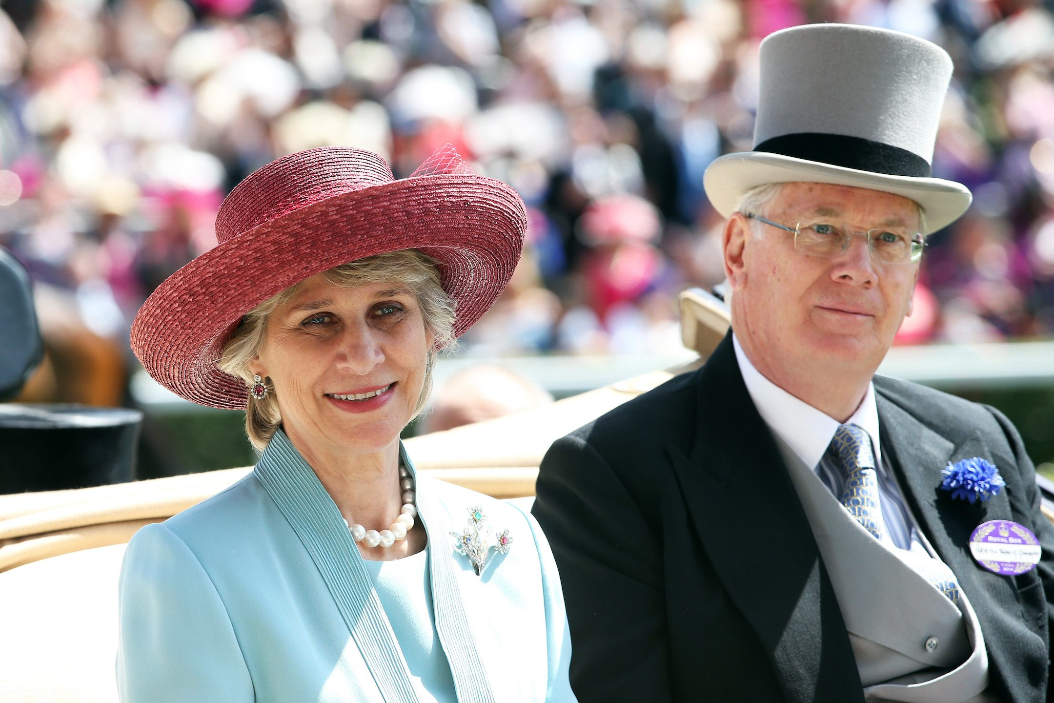 Prince Richard, Duke of Gloucester (R) and Brigitte, Duchess of Gloucester