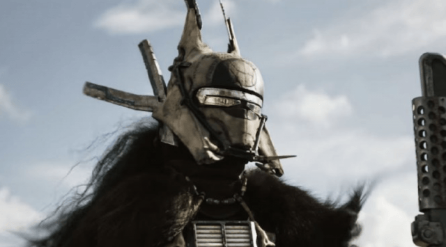 A close up of Enfys Nest.