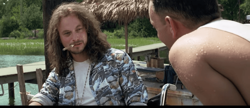 Forrest Gump talking to Gary Sinise's character with no legs