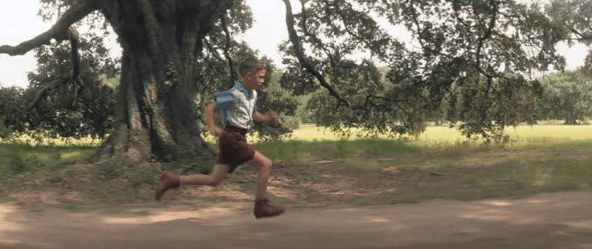Forrest Gump running as a child