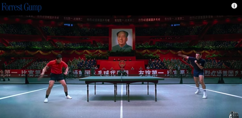Forrest Gump playing ping pong