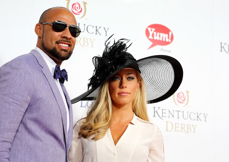 LOUISVILLE, KY - MAY 02: Hank Baskett (L) and Kendra Wilkinson-Baskett attend the 141st Kentucky Derby at Churchill Downs on May 2, 2015 in Louisville, Kentucky. (Photo by Tasos Katopodis/Getty Images for Churchill Downs)