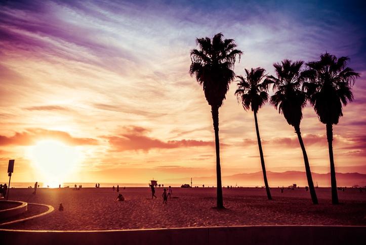 Sunset at Venice Beach, California