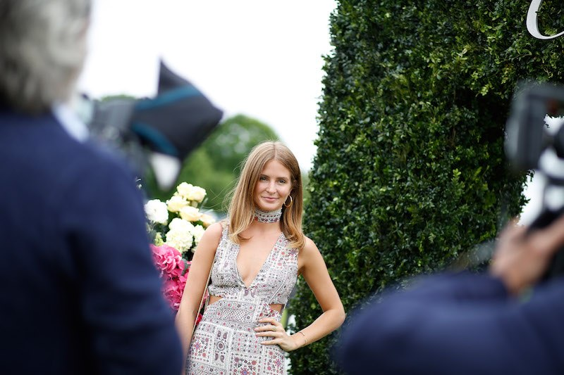 LONDON, ENGLAND - JUNE 11: Millie Mackintosh attends the Cartier Queen's Cup Polo at Guards Polo Club on June 11, 2016 in London, England. (Photo by Tristan Fewings/Getty Images for Cartier )