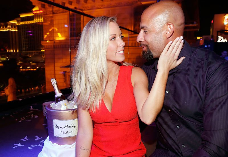 "LAS VEGAS, NV - JUNE 08: Kendra Wilkinson and Hank Baskett celebrate Wilkinson's birthday during the premiere celebration for WE tv's ""Kendra on Top"" and ""Sex Tips for Straight Women from a Gay Man"" on June 8, 2017 in Las Vegas, Nevada. (Photo by Isaac Brekken/Getty Images for WE tv)"