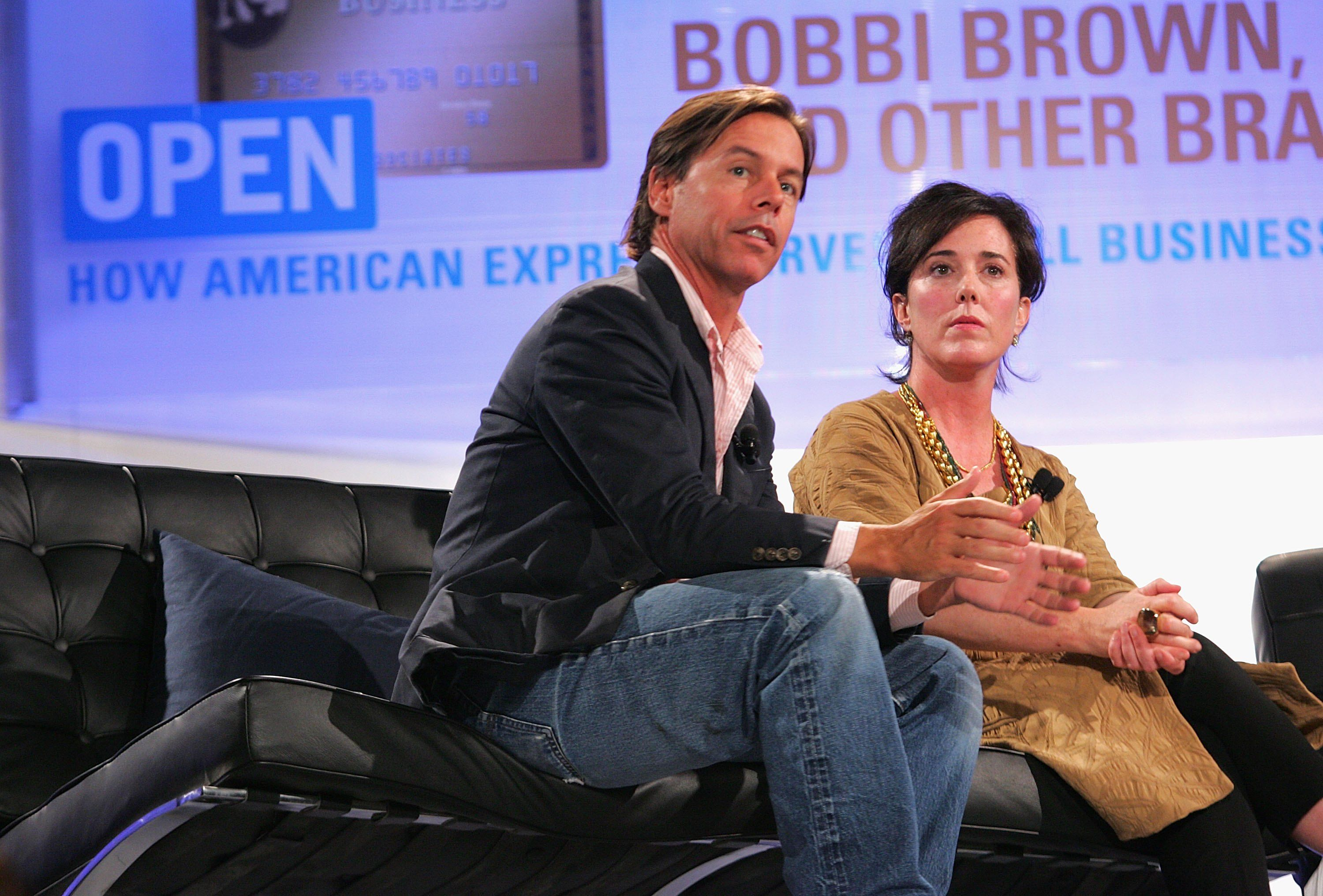 """Andy Spade, CEO and Creative Director of Kate Spade, and designer Kate Spade attend OPEN from American Express' """"Making a Name for Yourself"""" at Nokia Theater July 27, 2006 in New York City."""