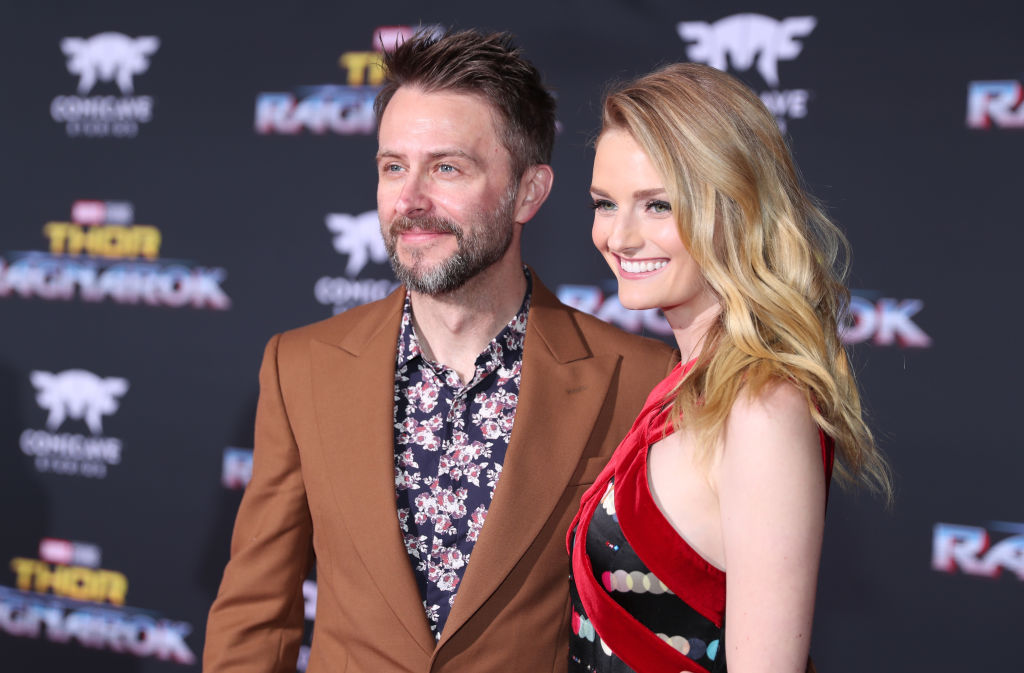 Actors Chris Hardwick and Lydia Hearst at The World Premiere of Marvel Studios' 'Thor: Ragnarok' at the El Capitan Theatre on October 10, 2017 in Hollywood, California.