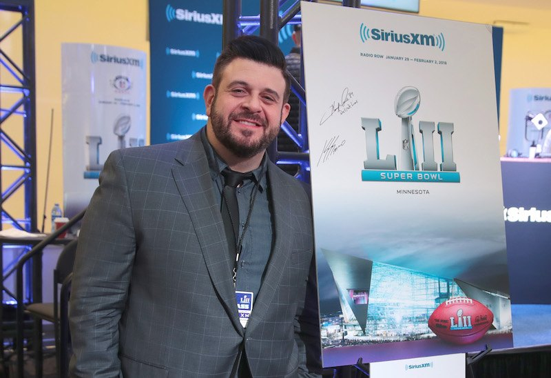BLOOMINGTON, MN - FEBRUARY 01: Television personality Adam Richman attends SiriusXM at Super Bowl LII Radio Row at the Mall of America on February 1, 2018 in Bloomington, Minnesota. (Photo by Cindy Ord/Getty Images for SiriusXM)