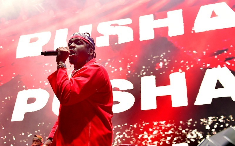 LOS ANGELES, CA - FEBRUARY 16: Pusha T performs onstage during adidas Creates 747 Warehouse St., an event in basketball culture, on February 16, 2018 in Los Angeles, California. (Photo by Neilson Barnard/Getty Images for adidas)
