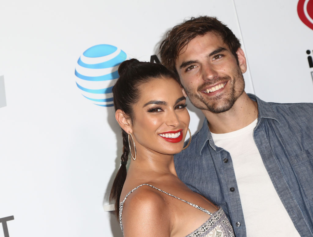 Ashley Iaconetti and Jared Haibon arrive at the 2018 iHeartRadio Wango Tango by AT&T at Banc of California Stadium on June 2, 2018 in Los Angeles, California.