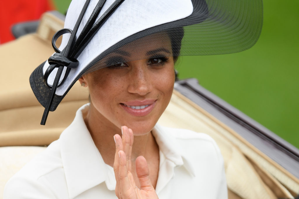 Meghan, Duchess of Sussex attends day one of Royal Ascot at Ascot Racecourse on June 19, 2018 in Ascot, United Kingdom.