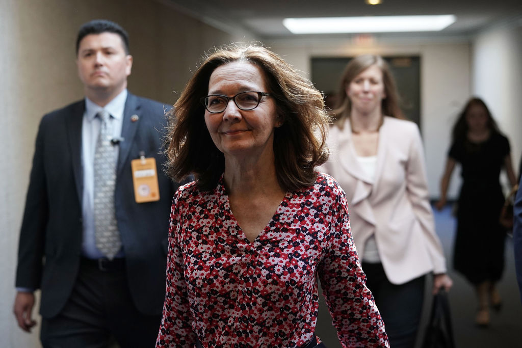 Gina Haspel, nominee to be director of the CIA, visits the Hart Senate Office Building