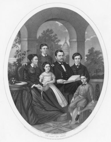 Ulysses S. Grant and his family