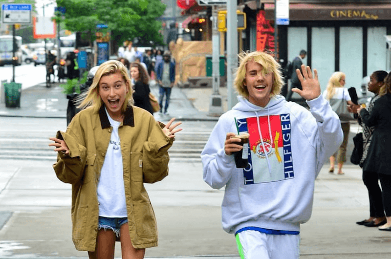 Hailey Baldwin and Justin Bieber in NYC