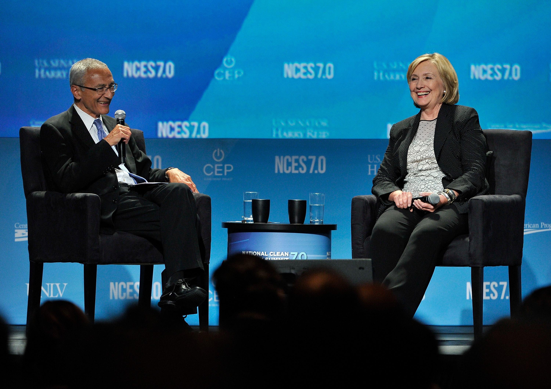 John Podesta and Hillary Clinton