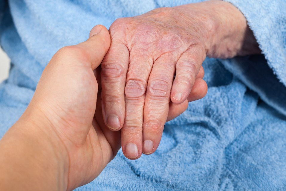A senior woman's hand