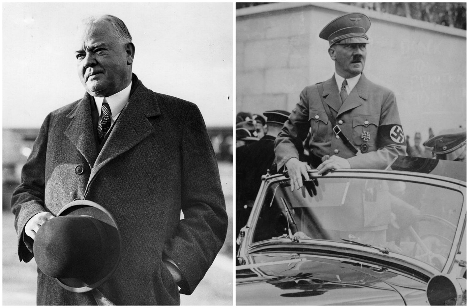Herbert Hoover and Adolf Hitler