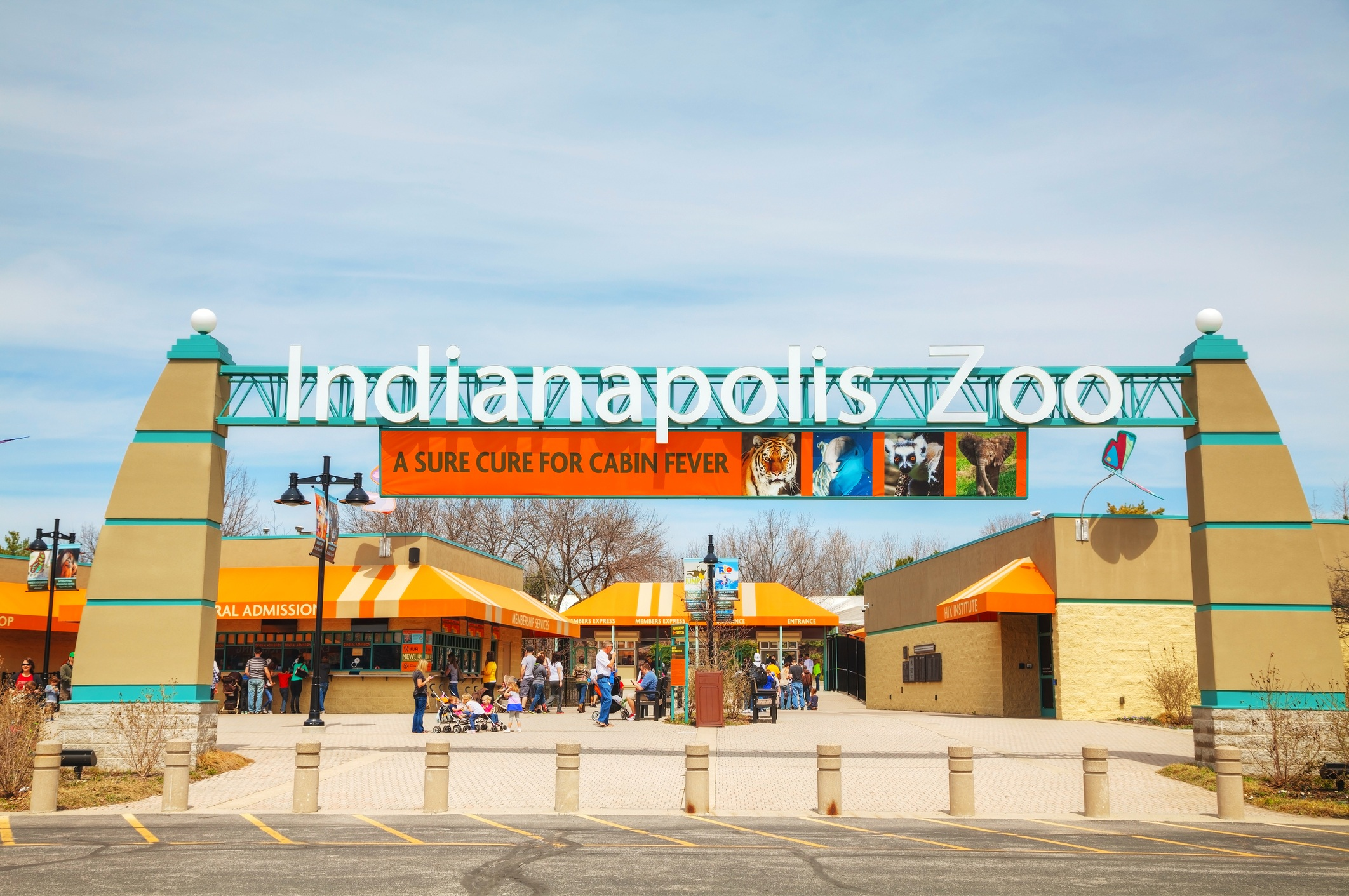 Entrance to the Indianapolis Zoo