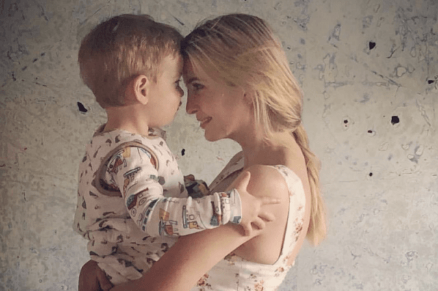 Ivanka Trump and her son.