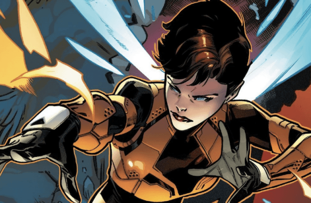 Janet van Dyne in the Marvel comics.