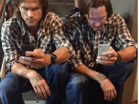 Jared Padalecki and Mke Carpenter