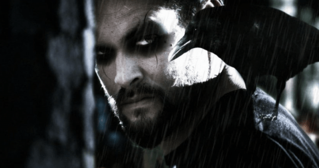 Jason Momoa in a promotional photo for 'The Crow'.