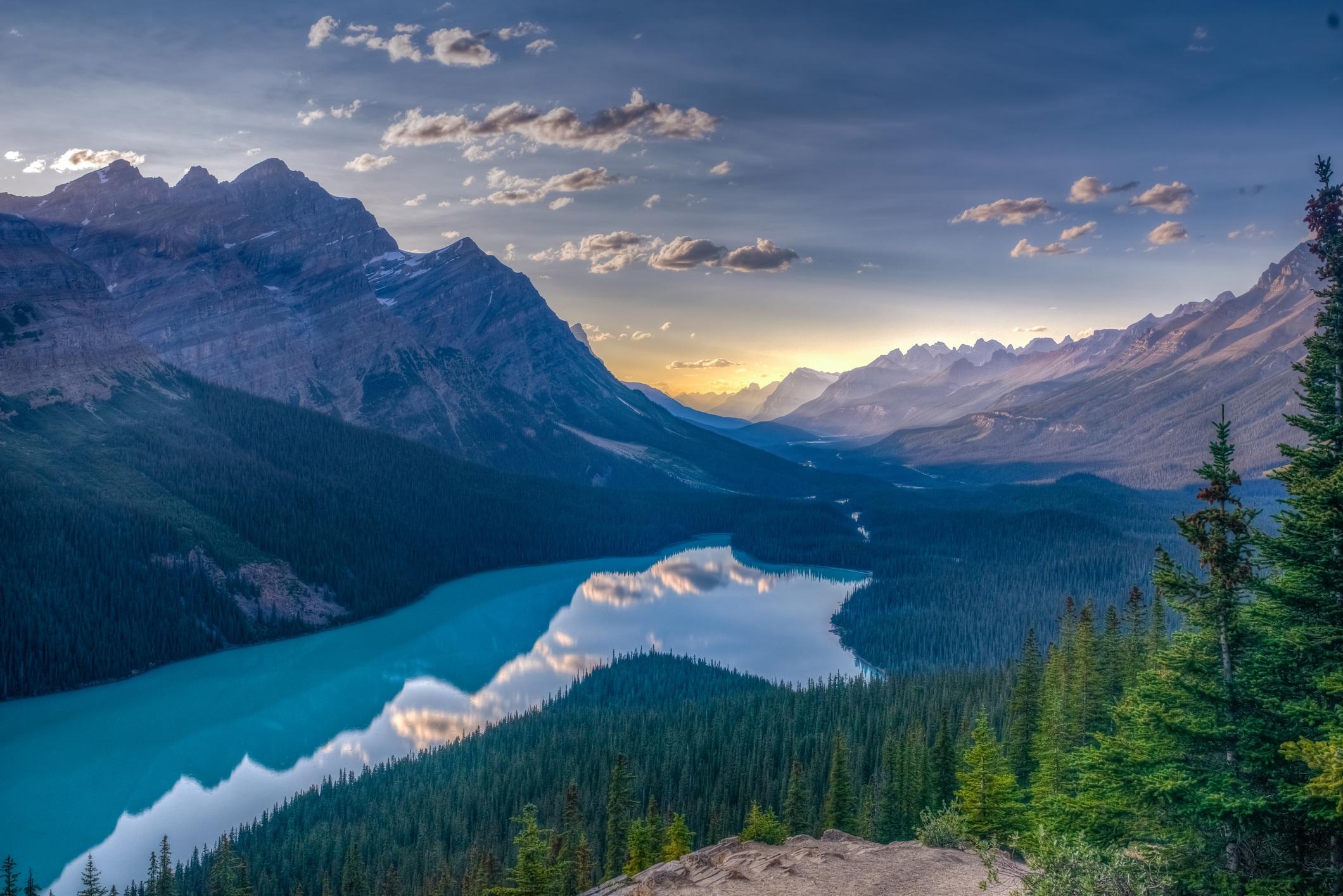 View of Peyto Lake, Jasper National Park, Canadian Rockies