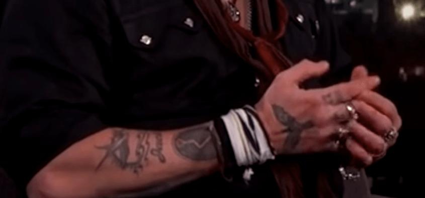 Johnny Depp's tattoo