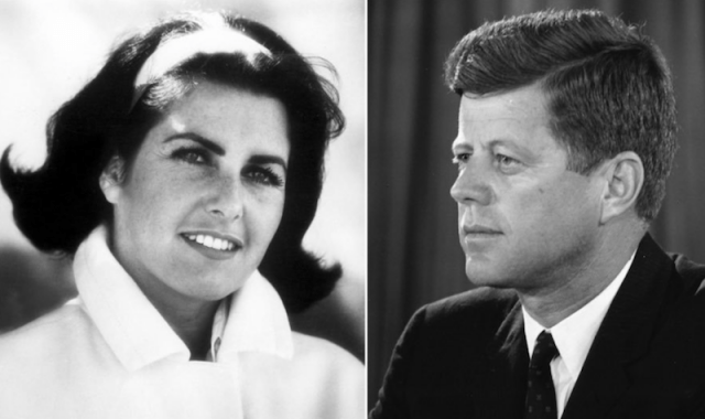 Judith Exner and John F. Kennedy collage.