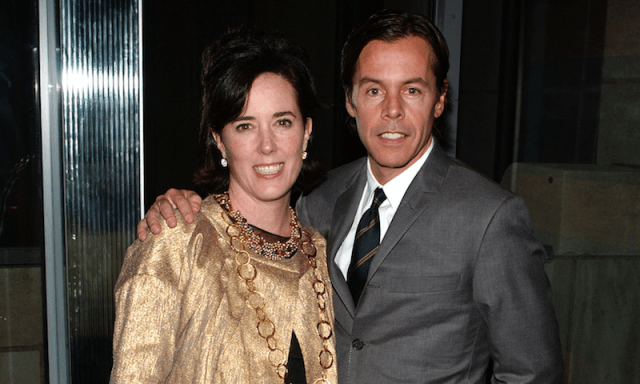 Kate Spade and Andy Spade at an event.