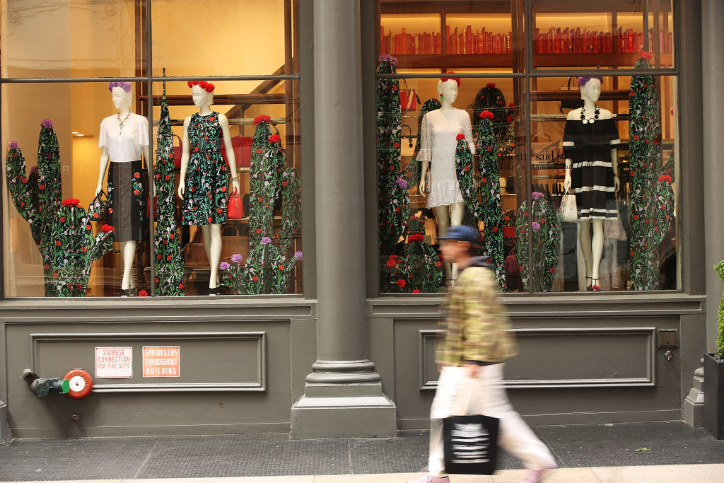 A Kate Spade store stands in the SoHo neighborhood of Manhattan
