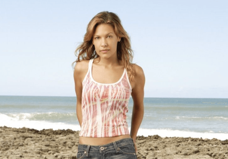 Kiele Sanchez on the beach.