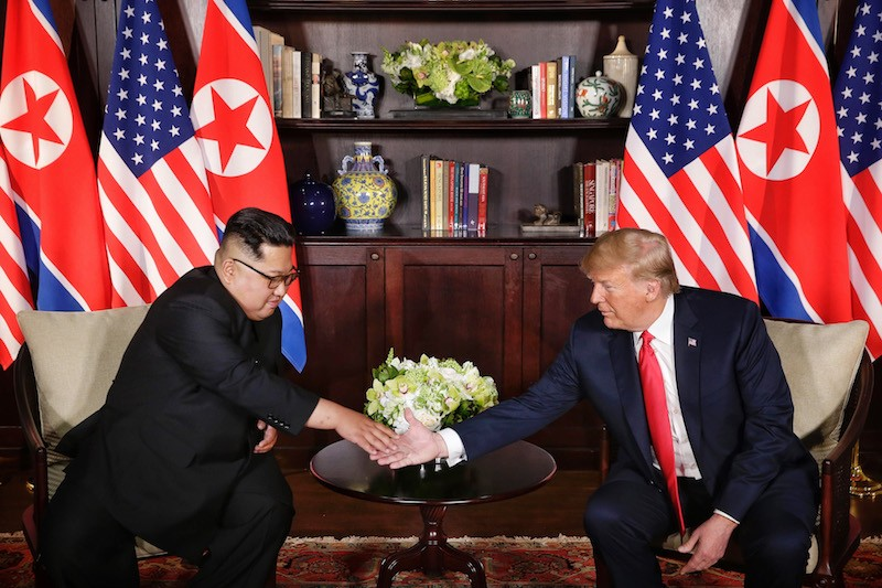 President Donald Trump meets North Korean leader Kim Jong Un