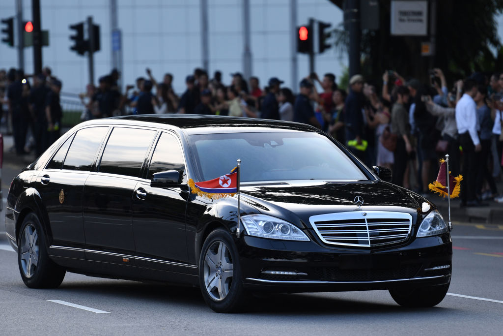The official car carrying North Korea's leader Kim Jong Un