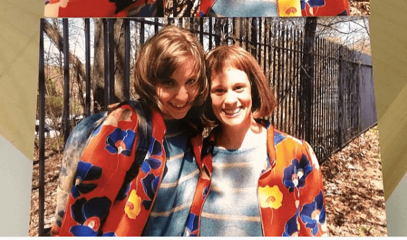 Lena Dunham and Dakota Brown