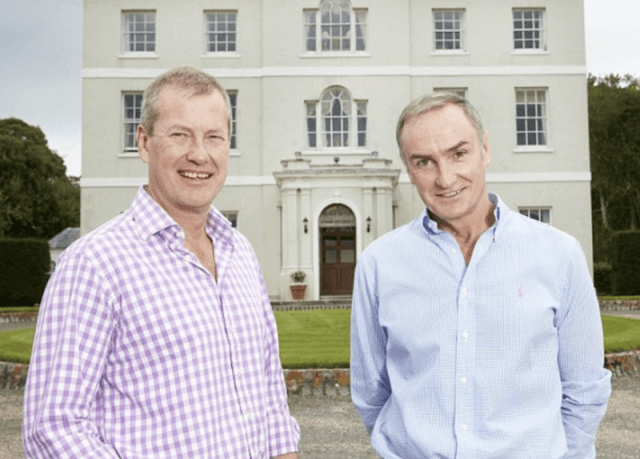 Lord Ivar Mountbatten and James Coyle posing together.