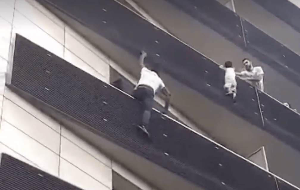 Mamoudou Gassama rescued child from apartment balcony